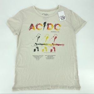 Chaser AC/DC Powerage Graphic Band Tee NWT L